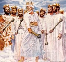 Wachtturm-Gesellschaft unterschwellige Bild von König mit Kralle Hand