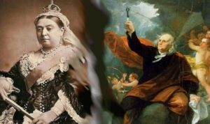 ben franklin/queen victoria mash-up