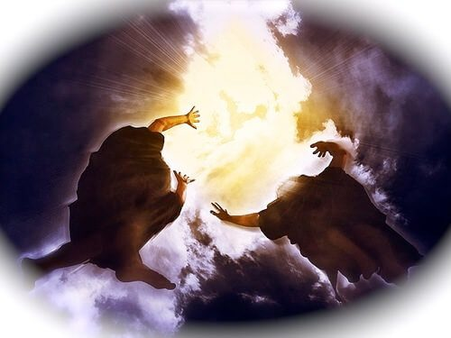 Two witnesses ascending into heaven