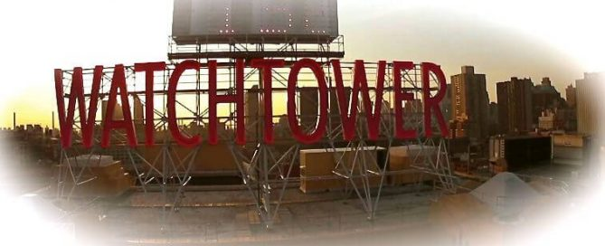 watchtower signage in Brooklyn