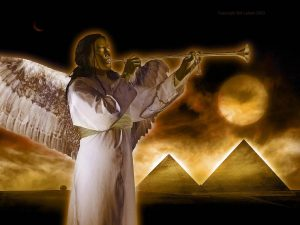 Jehovah's angel blows the judgment trumpet