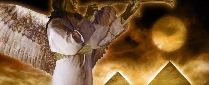 el ángel de Jehová sopla la trompeta juicio