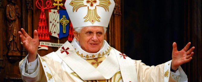 Pope Benedict XVI with miter