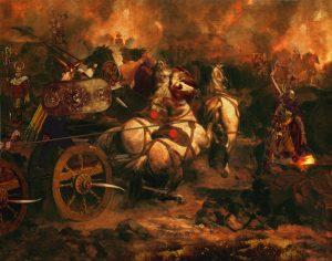 Persian war chariot