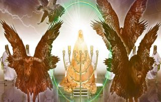 throne of God and living creatures