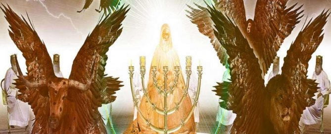 trono de Dios y los seres vivos