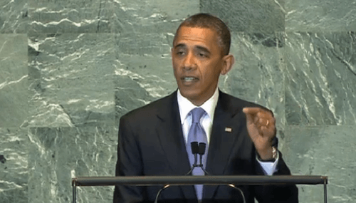 Obama speaks before the UN general assembly