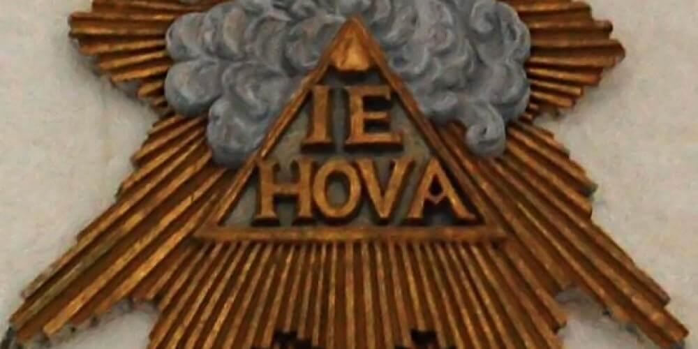 IEHOVA on old church