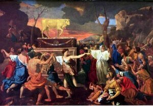 Israelites worship golden calf