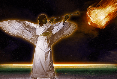 4th angel blows his trumpet - Revelation