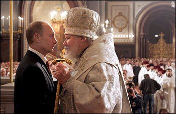 Vladimer Putin & Russian orthodox head