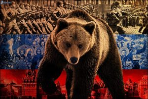 Russian bear menacing Europe