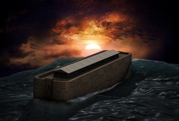 Noah's ark in the Flood