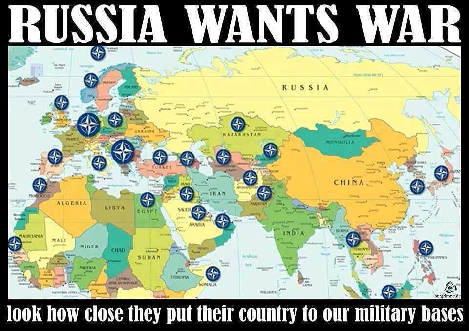 Russia wants war cartoon