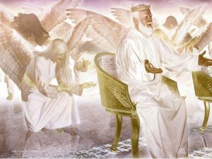 24 eladers and angels praise Jehovah