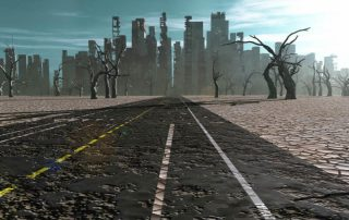 Camino a la ciudad apocalipsis
