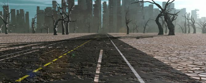 Road to apocalypse city