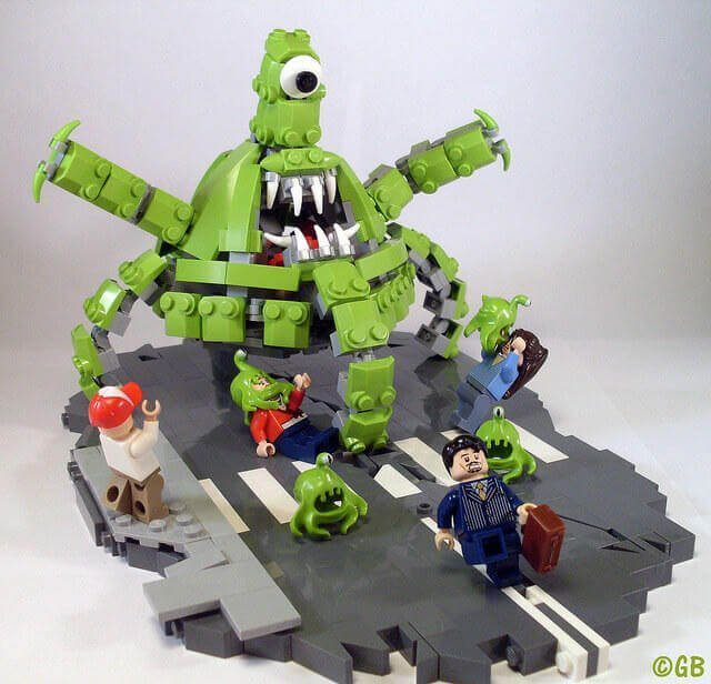 lego green monster