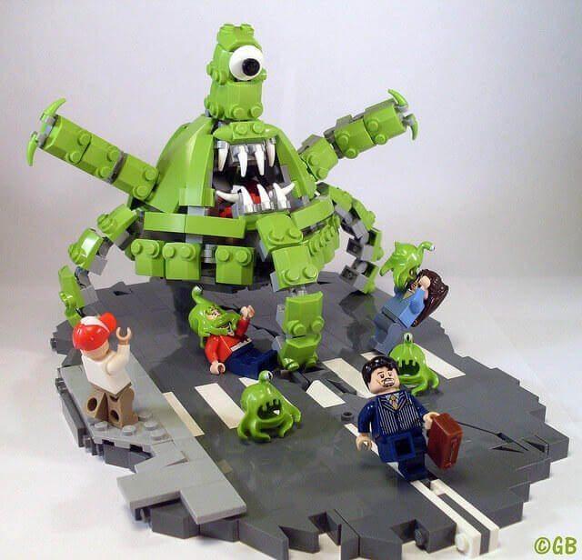 lego green monster