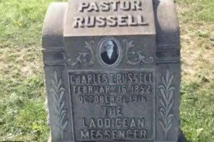 Charles Russell grave - Laodecian messenger