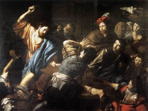 Christ expels the moneychangers
