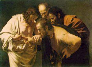 doubting Thomas sees Jesus