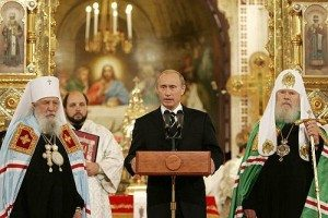 Putin with prelates of church
