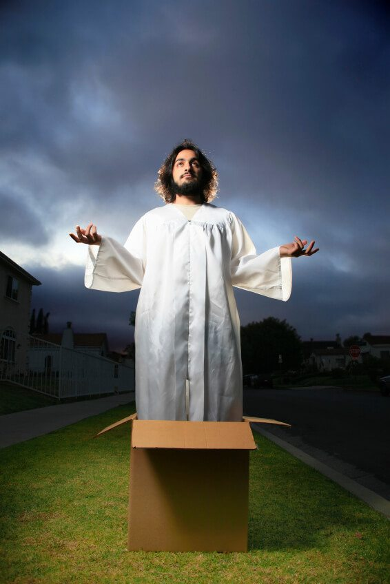 Jesus in the box.