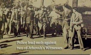 Two of Jehovah's Witnesses in small town USA flee a police-led mob