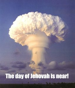 Mushroom cloud and the day of Jehovah
