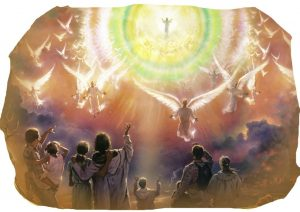 glory of JeHovah in the heavens