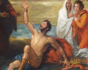 King Saul behaving as a prophet