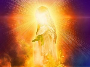 The fiery manifestation of Jesus