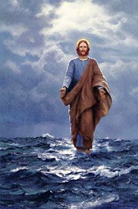 Jesus walks on Sea of Galilee