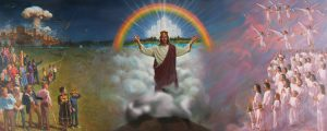 The Son of man, Jesus Christ, coming on the clouds of heaven