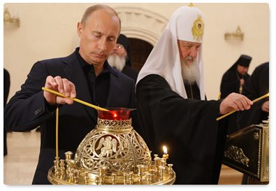 Putin performs religious ceremony