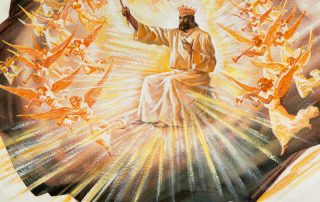 Christ coming with all his angels
