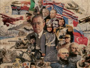 First world War collage