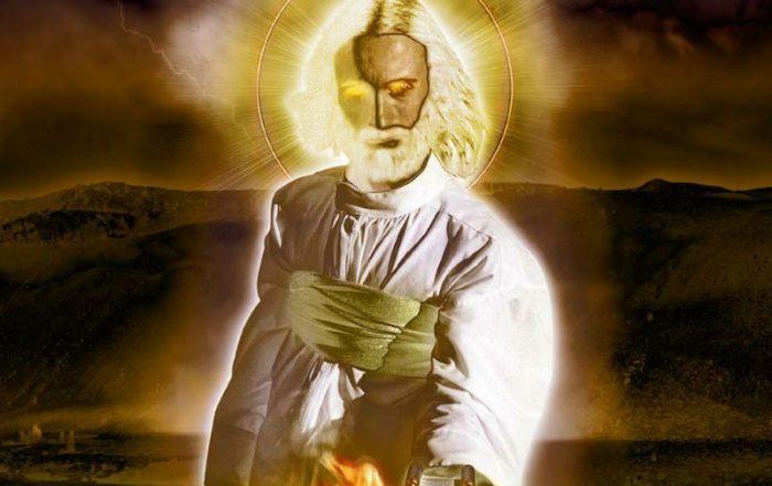 Иисус с маленьким свитком в руке