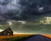 storm approaching in open plains