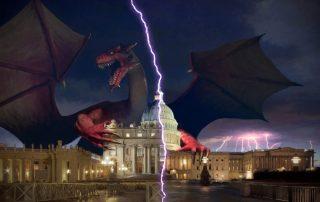 Satan the dragon embraces the Whitehouse