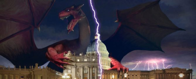 Satan the dragon embraces the Whitehouse