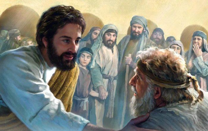 Jesus heals a man