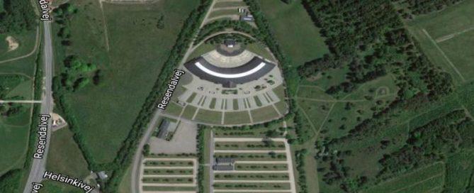 Silkebord Kongresshalle erscheint als Auge des Horus
