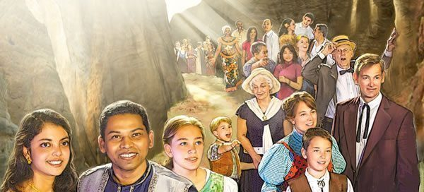 The great crowd come out of the great tribulation