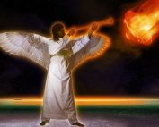 angel blows his trumpet