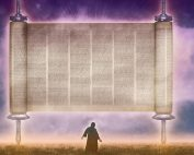 Flying scroll of Zechariah's vision