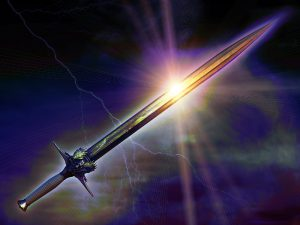 Jehovah unsheathes his polished sword