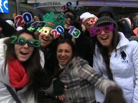 new year's revelers
