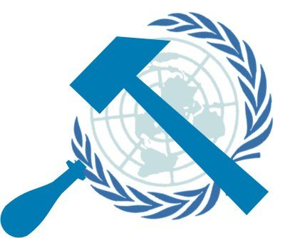 hammer and sickle UN logo